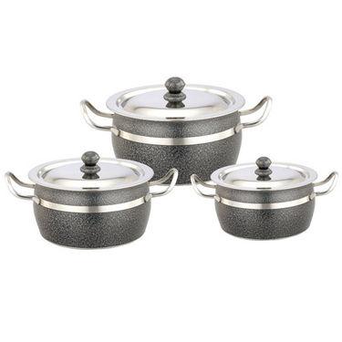 Set of 6 Klassic Vimal Powder Coated Antique Dish - Grey