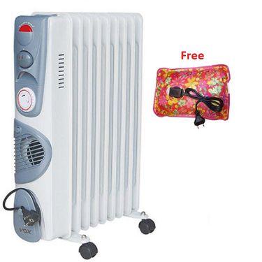 VOX (X-OD09TF) 9 Fin Oil Filled Heater - White