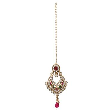 Vendee Fashion Wholesome Close Necklace Set - Pink & Green - 8333