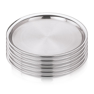 Vinod Kraft 6pcs Premium Side Plates-Silver
