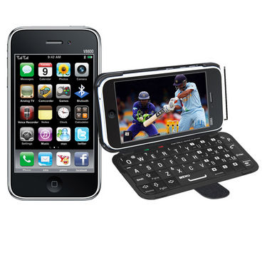 VOX Full Touch Screen TV Mobile with Detachable QWERTY Keypad - V8600 - Black