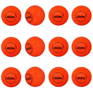 AVM Red Windball-18 Cricket Ball - Size Standard, Dia 6.5 cm - 12 Pcs