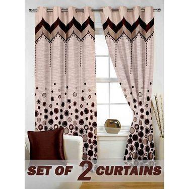 Set of 2 Printed Window curtain-5 feet-WBR_2_4017