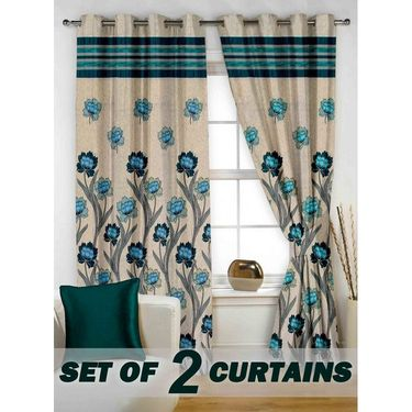 Set of 2 Printed Window curtain-5 feet-WBR_2_4026