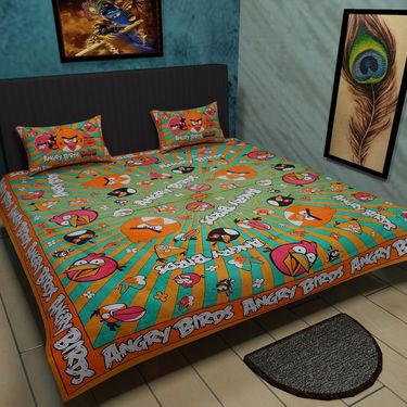 Manukunj Double Bedsheet With 2 Pillow Covers-WORLD6