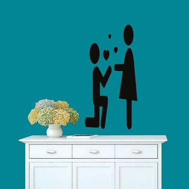 Qute Couple Decorative Wall Sticker-WS-08-020