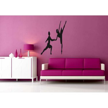 Dancing Girl Decorative Wall Sticker-WS-08-058