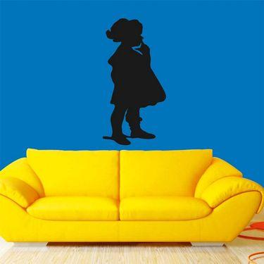 Sweet Girl Decorative Wall Sticker-WS-08-070