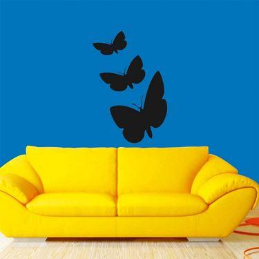 Black Butterfly Decorative Wall Sticker-WS-08-081