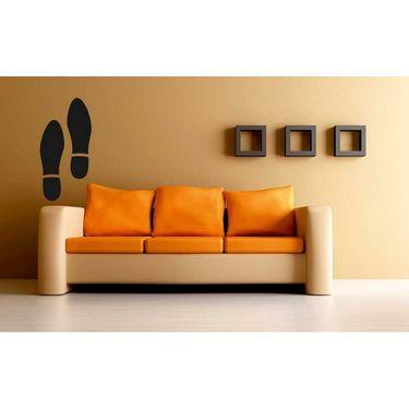 Black Footprint Decorative Wall Sticker-WS-08-141