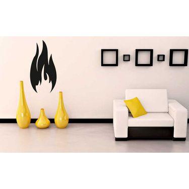 Black Fire Wave Wall Sticker-WS-08-161