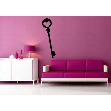Black Key Decorative Wall Sticker-WS-08-169