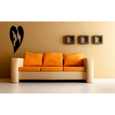 Couple Face Decorative Wall Sticker-WS-08-180