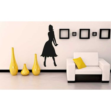 Black Girl Decorative Wall Sticker-WS-08-215