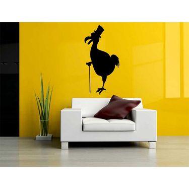 Black Funny Hen Decorative Wall Sticker-WS-08-220