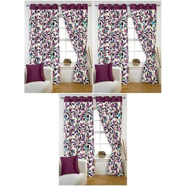 Storyathome Set of 6 Window curtain-5 feet-WTZ_3-1001