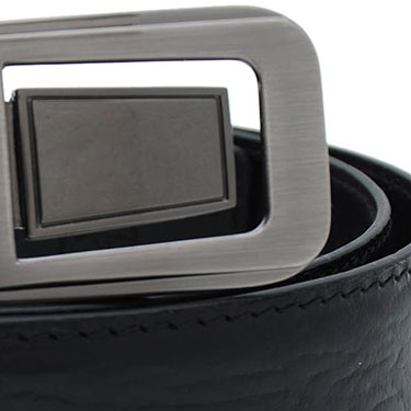 Walletsnbags Mustang Leather Belt - Black