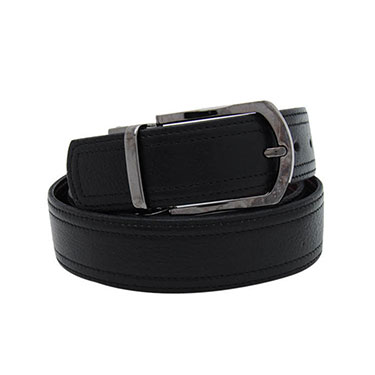 Walletsnbags Natural Drymill Leather Belt - Black & Brown