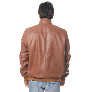 Buy Wilson Sleeveless Hooded Leather Jacket for Men - Brown Online at