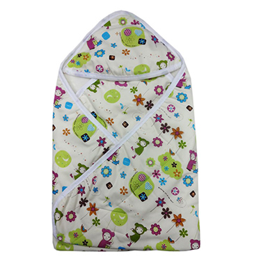 Wonderkids Printed Hooded Blanket - Multicolor - MW121-FLOPRI