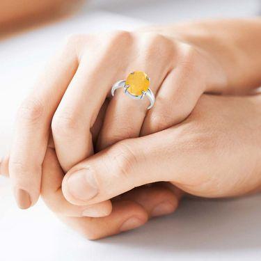 Kiara Jewellery Certified Pukhraj 3.0 cts & 3.25 Ratti Yellow Sapphire Ring_Ysrw