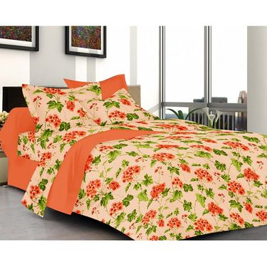 valtellina Set of 2 Double Bed Sheets with 2 Pillow Covers-Y_071-106