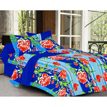 valtellina Set of 2 Double Bed Sheets with 2 Pillow Covers-Y_082-094