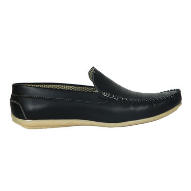 Yellow Tree Faux Leather Black Loafers Shoes -os02