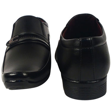Synthetic Leather Black Formal Shoes -oy03