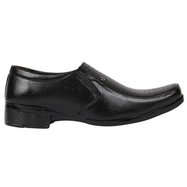 Yellow Tree Synthetic Leather Black Formal Shoes -osy06