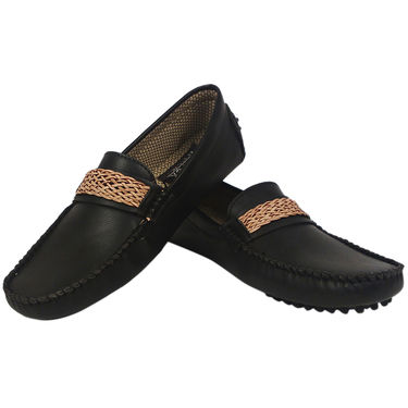 Synthetic Leather Black Formal Shoes -oy05