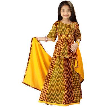 Little India Rajasthani Zigzag Design Lehanga Choli