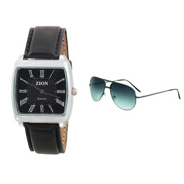 Combo of Zion Fashion 1 Wrist Watch + 1 Sunglasses_ZW 402