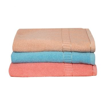 Banarsi Das Set of 3 Pure Cotton Bath Towels-bdt003