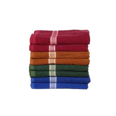 Banarsi Das Pack of 8 100% Cotton Bath Towels-bdt008