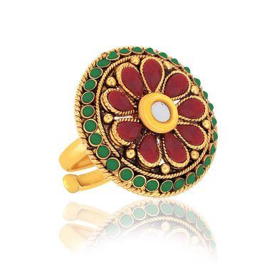Spargz 4 Designer Finger Ring in Gold Finish_Cb373