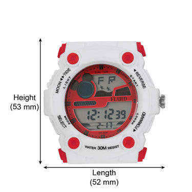 Fluid Digital Round Dial Watch For Unisex_d03rd01 - Red