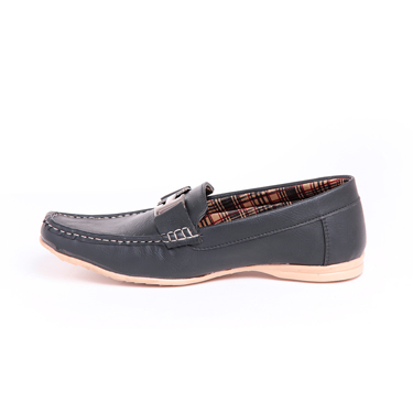 Foot n Style Italian leather Loafers  FS273 - Black