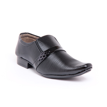 Foot n Style Leather Formal Shoes  FS270 - Black