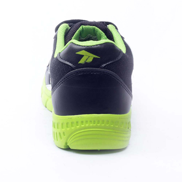Foot n Style Synthetic  leather Sports Shoes  FS434 - Black & Green