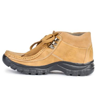 Foot n Style Nubuck Leather Beige Casual Shoes -fs3034
