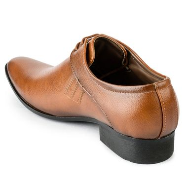 Foot n Style Leather Brown Formal Shoes -fs3095
