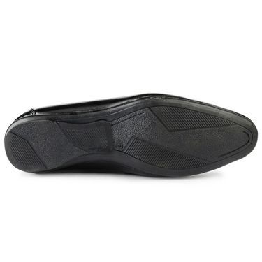 Foot n Style Leather Black Casual Shoes -fs3100