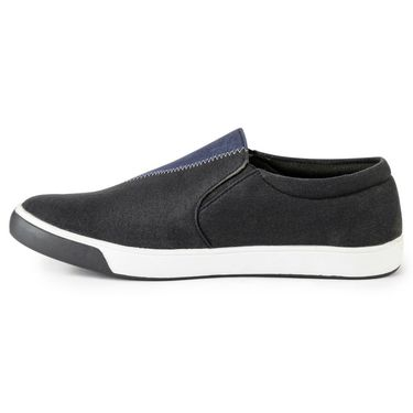Foot n Style Canvas Navy & Black Casual Shoes -fs3127