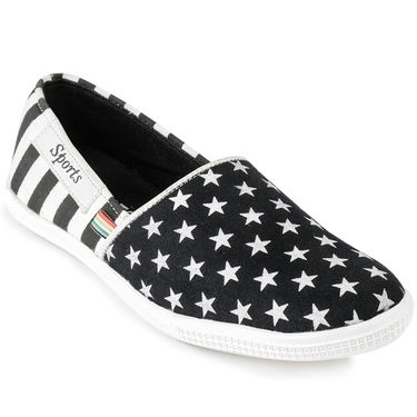 Foot n Style Canvas Black Casual Shoes -fs3132