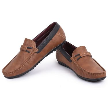 Foot n Style Brown Loafers Shoes -Fs3157