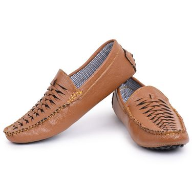 Foot n Style Brown Loafers Shoes -Fs3160