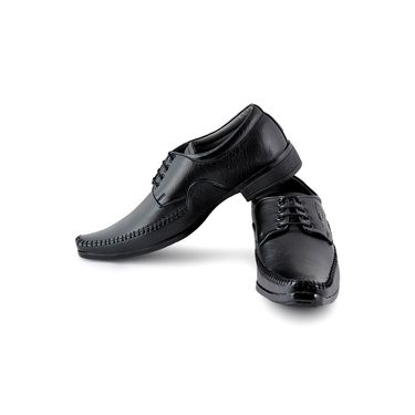 Foot n Style Cordovan Leather Formal Shoes FS 317 -Black