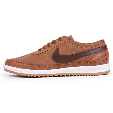 Foot n Style Brown Sneaker Shoes -Fs3174