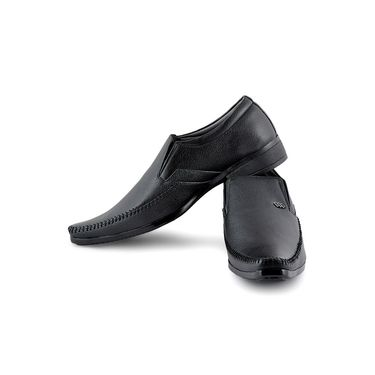 Foot n Style Cordovan Leather Formal Shoes FS 319 -Black